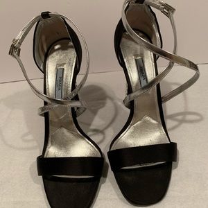 PRADA open toe cris cross jeweled heels size 39